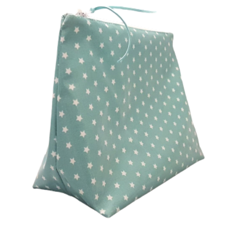 Large Teal Stars Washbag