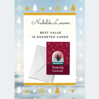 10  Assorted Nadelik Lowen Cards Pack - BEST VALUE