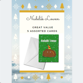 5 Assorted Nadelik Lowen Cards Pack - GREAT VALUE