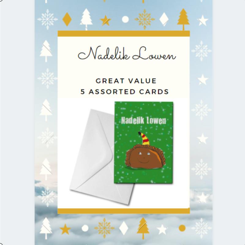 5 Assorted Nadelik Lowen Cards Pack - GREAT VALUE