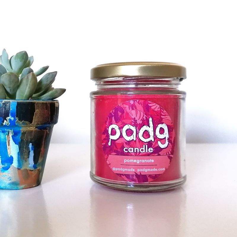 Handmade Plant Based Candle - Pomegranate