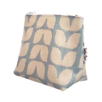 Mini Blue Tulip Cosmetic Bag