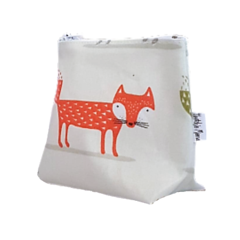 Mini Scandi Style Foxes Cosmetic Bag