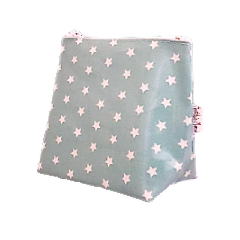 Mini Teal Stars Cosmetic Bag
