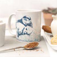 Beautiful Ceramic Mug - Puffin Design