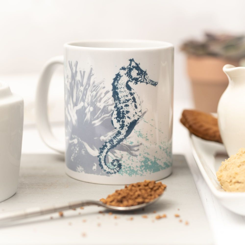 Beautiful Ceramic Mug - Seahorse Design