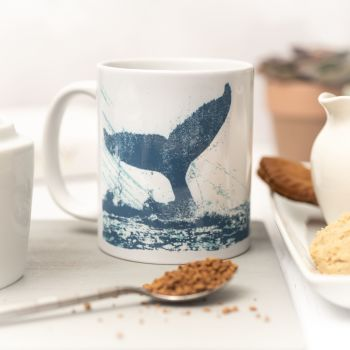 Beautiful Ceramic Mug - Whale's Tail Design
