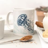 Beautiful Ceramic Mug - Jellyfish Design