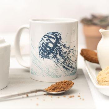 Beautiful Ceramic Mug - Jellyfish Design