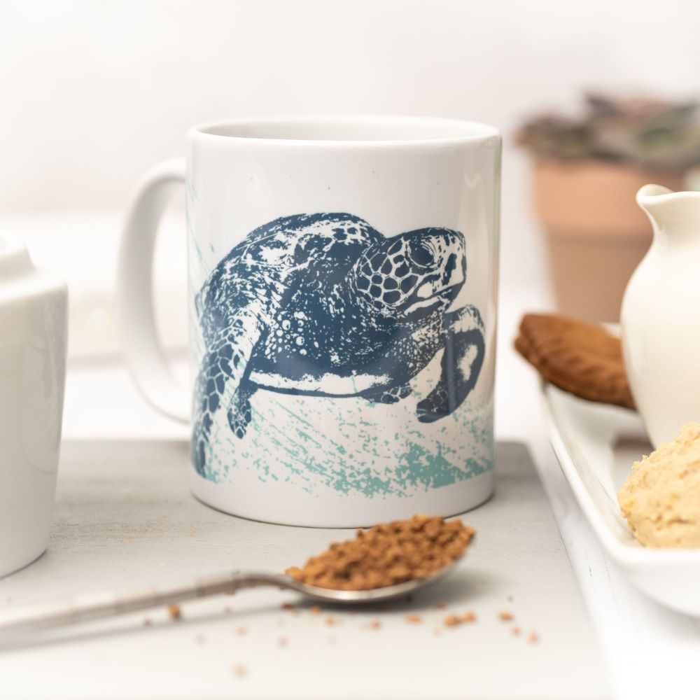 Beautiful Ceramic Mug - Turtle Design