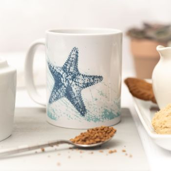 Beautiful Ceramic Mug - Starfish Design