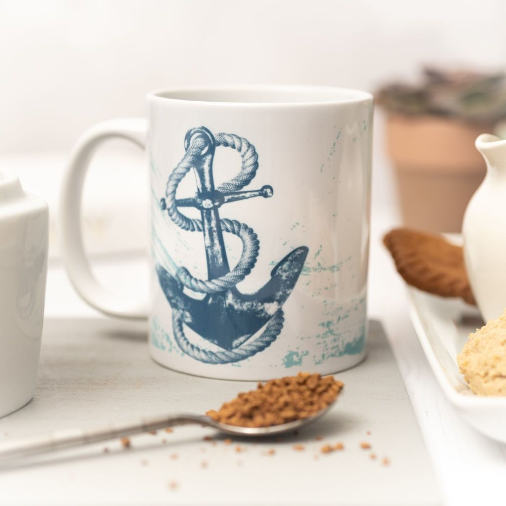 Beautiful Ceramic Mug - Anchor Design