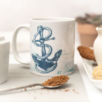 Beautiful Ceramic Mug - Anchor Design