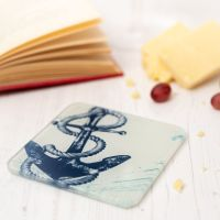 Anchor Coaster - Recycled Glass - Nautical Style