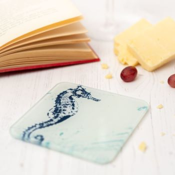 Seahorse Coaster - Recycled Glass - Nautical Style