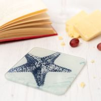 Starfish Coaster - Recycled Glass - Nautical Style