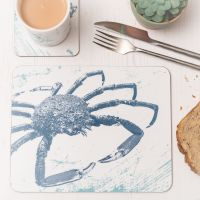 Spider Crab Placemat - Blue & White Melamine - Nautical Style