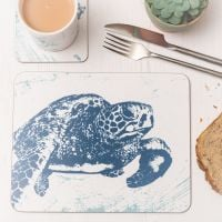 Turtle Placemat - Blue & White Melamine - Nautical Style