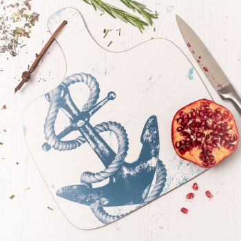 Anchor Chopping Board - Nautical Style