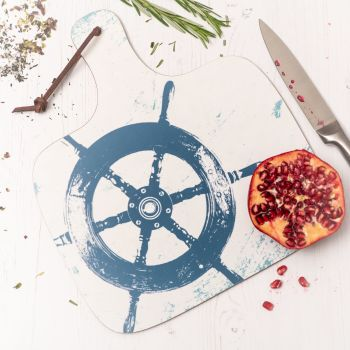 Ship's Wheel Chopping Board - Nautical Style