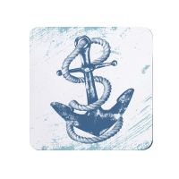 Anchor Teapot Stand - Melamine - Nautical Style