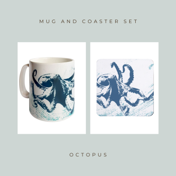 Coaster and Mug Gift - Octopus