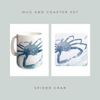 Coaster and Mug Gift - Spider Crab