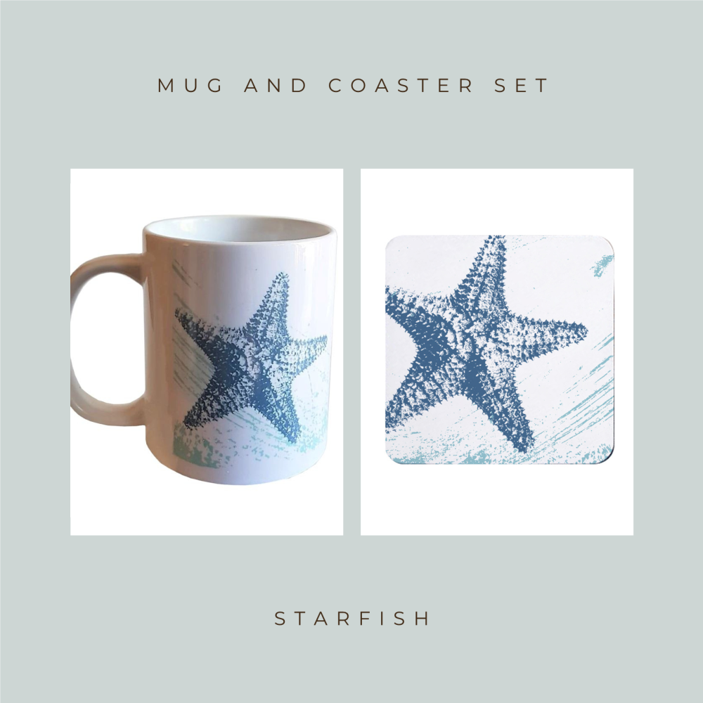 Coaster and Mug Gift - Starfish