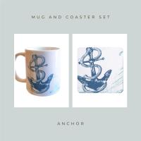 Coaster and Mug Gift - Anchor