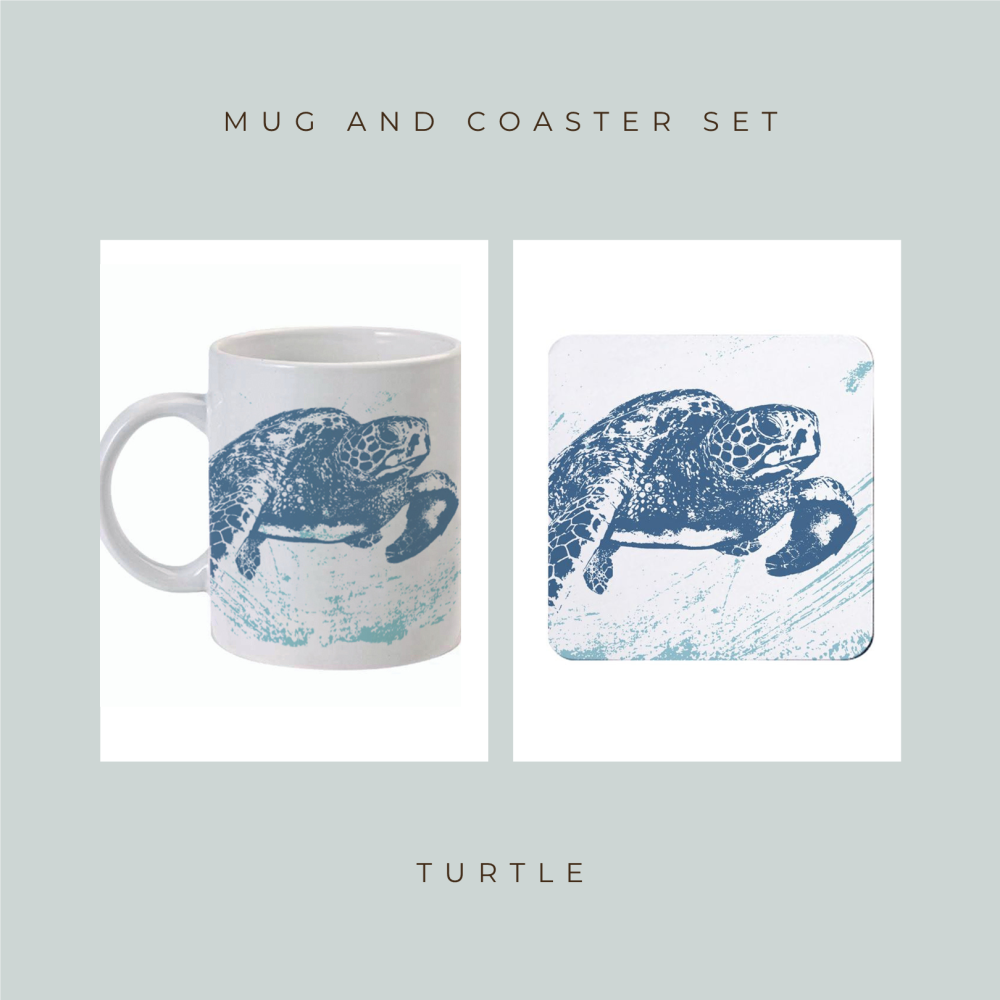 Coaster and Mug Gift - Turtle