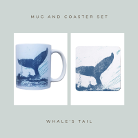 Coaster and Mug Gift - Whale's Tail