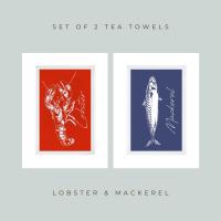 Set of 2 Seafood Teatowels