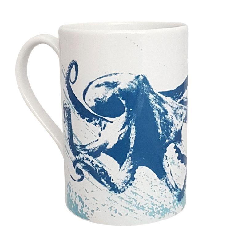 A Stunning Porcelain Mug - Octopus Design
