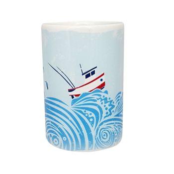 A Stunning Porcelain Mug - Fishing Boat Design
