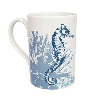 A Stunning Porcelain Mug - Seahorse Design