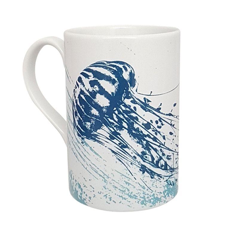 A Stunning Porcelain Mug - Jellyfish Design