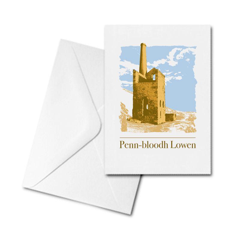 Blank Greetings Card - Pennbloodh Lowen - Tin Mine