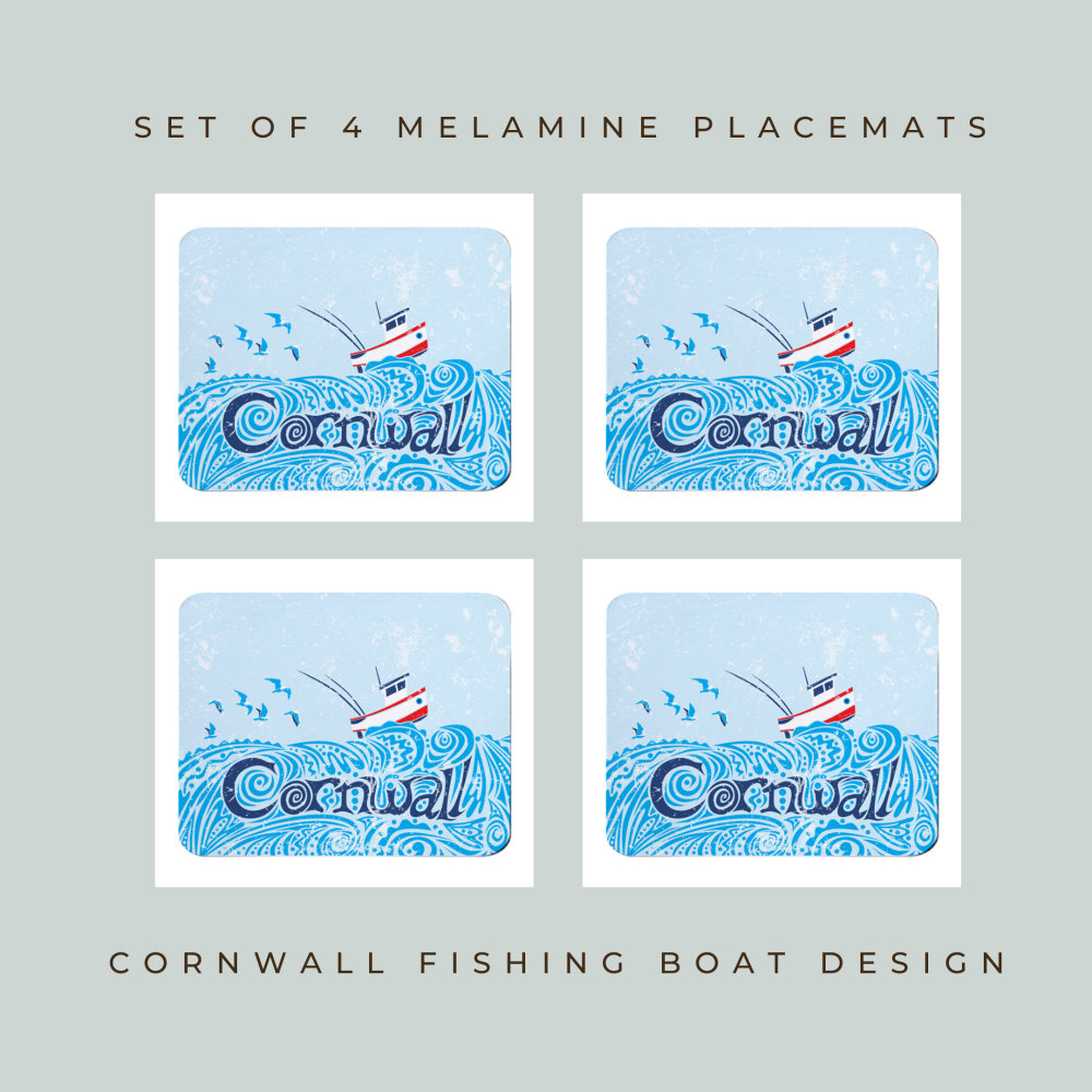 Set of 4 Placemats - Little Fishing Boat - Cornwall
