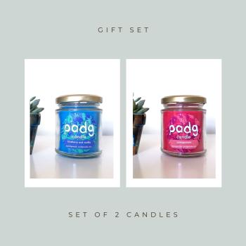 Set of 2 Candles - Pomegranate - Blueberry & Vanilla