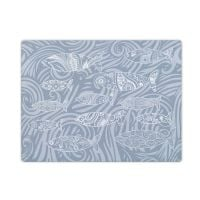Smooth Glass Surface Protector - Pale Grey Shoal of Fish Design