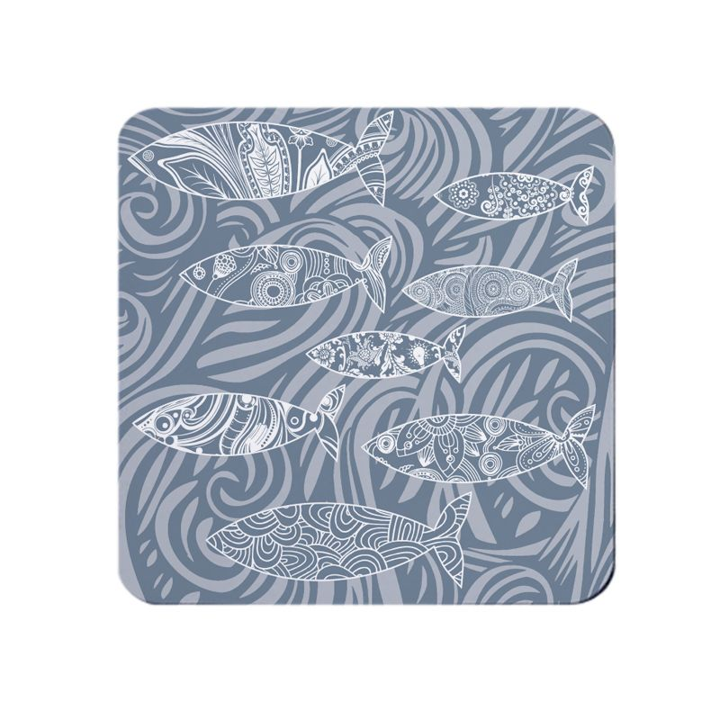 Shoal of Fish Coaster - Dark Grey