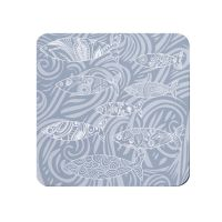 Shoal of Fish Coaster - Pale Grey - Coastal Vibes