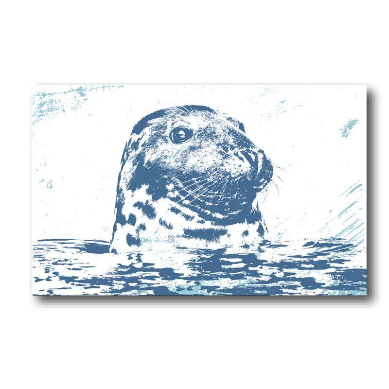 Melamine Fridge Magnet - Grey Seal