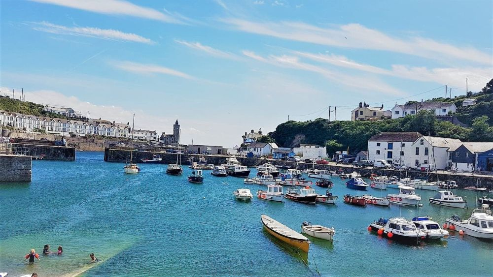 Sunny Porthleven Harbour, Cornwall