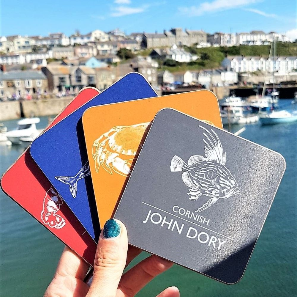 Cornish Magpie Coasters in Porthleven Harbour
