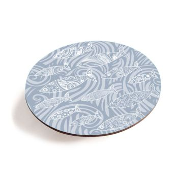 Shoal of Fish Teapot Stand - Pale Grey - Seaside Vibes