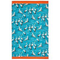Cranes - Full Colour Tea Towel - 100% Cotton