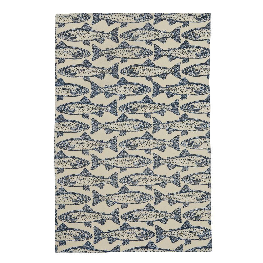 Salmon Tea Towel - 100% Cotton