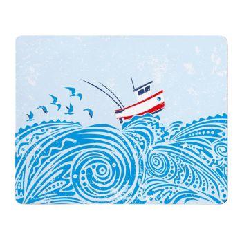 Fishing Boat Placemat - Full Colour Melamine - Nautical Style