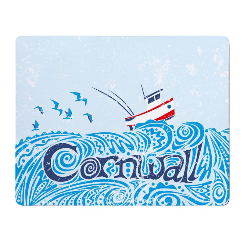Cornwall Fishing Boat Placemat - Full Colour Melamine - Nautical Style